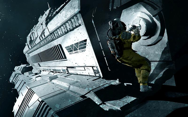 obcy - spacer w przestrzeni